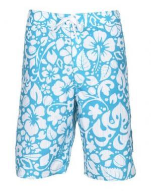 Пляжные брюки и шорты ADIDAS ORIGINALS. Цвет: бирюзовый