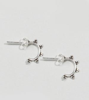 Kingsley Ryan Серебряные серьги-кольца. Цвет: серебряный