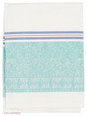 Полотенце лен Метиз. Цвет: зеленый, белый