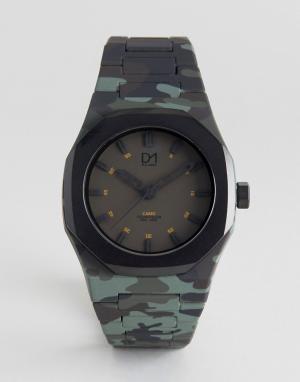 D1 Milano Часы цвета хаки из коллекции Essential от. Цвет: зеленый