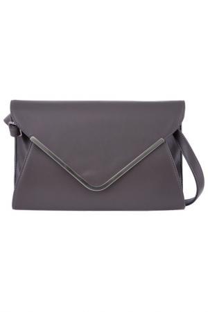 Клатч Vera bags. Цвет: dark gray