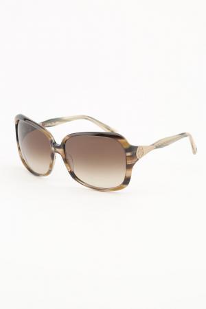 Очки солнцезащитные ELLE. Цвет: оливковый