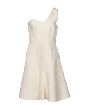 Короткое платье ROLAND MOURET. Цвет: слоновая кость