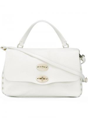 Маленькая сумка-тоут Postina Cash Pura Zanellato. Цвет: белый