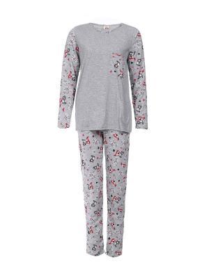 Пижама Веста.. Цвет: серый