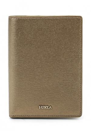 Обложка для документов Furla. Цвет: золотой