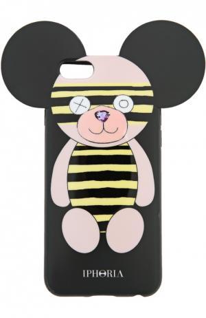 Чехол для iPhone 6 с медведем Iphoria. Цвет: черный