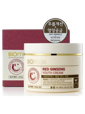 Крем для молодости кожи с экстрактом красного женьшеня BIO max. Цвет: белый