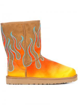 Декорированные угги UGG x Jeremy Scott. Цвет: жёлтый и оранжевый