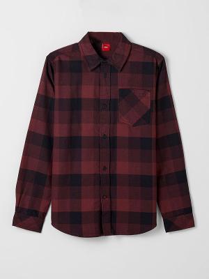 Рубашка S.OLIVER. Цвет: темно-коричневый