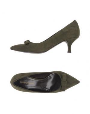 Туфли LORENZO MARI. Цвет: зеленый-милитари