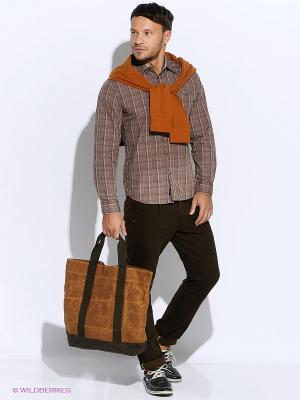 Рубашка Mavango. Цвет: светло-коричневый
