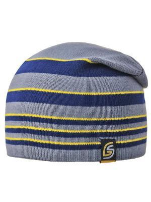 Шапка Grans. Цвет: синий, желтый, серый