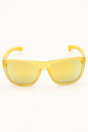 Очки солнцезащитные Lacoste. Цвет: желтый