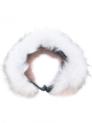 Меховая повязка на голову Mr & Mrs Italy. Цвет: многоцветный