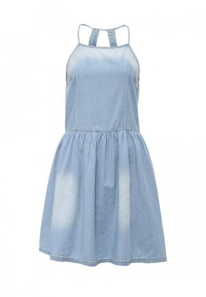 Платье джинсовое United Colors of Benetton. Цвет: голубой