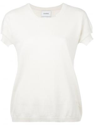 Трикотажная футболка Barrie. Цвет: белый