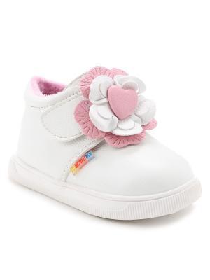 Ботинки детские демисезонные Капитошка. Цвет: белый