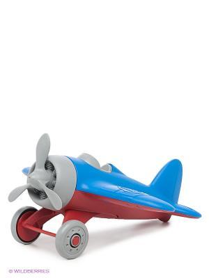 Самолет голубой Green Toys. Цвет: голубой, красный, серый