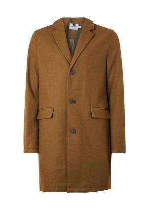 Пальто Topman. Цвет: бежевый