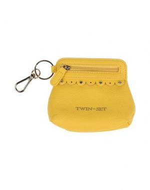 Кошелек для монет TWIN-SET Simona Barbieri. Цвет: желтый