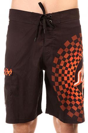 Шорты пляжные  Fastimes Boardshorts Black Santa Cruz. Цвет: черный