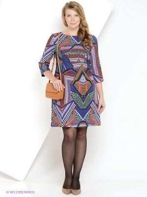 Платье AKIMBO. Цвет: синий, серый, рыжий