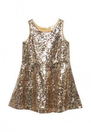 Платье Gap. Цвет: золотой