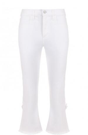 Укороченные джинсы прямого кроя с потертостями Citizens Of Humanity. Цвет: белый
