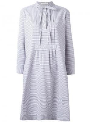Платье-рубашка с завязками Peter Jensen. Цвет: серый