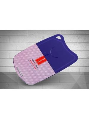Доска Samura FUSION термопластиковая с антибактериальным покрытием, 380х250х2 (фиолетовая). Цвет: черный