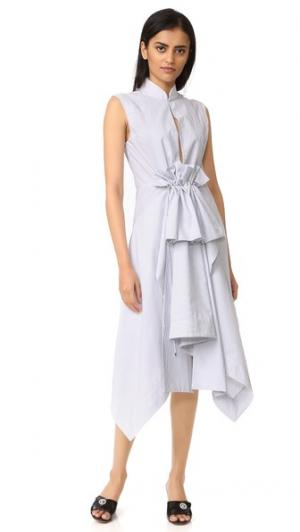 Платье-рубашка Waldorf Acler. Цвет: полоска