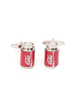 Запонки баночка кока-кола coca-cola Churchill accessories. Цвет: серебристый