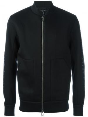 Куртка-бомбер с принтом Helmut Lang. Цвет: чёрный