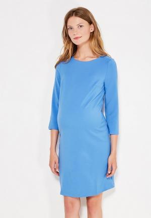 Платье 40 недель. Цвет: голубой
