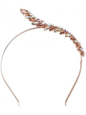 Ободок с кристаллами Lisa C Bijoux. Цвет: металлический
