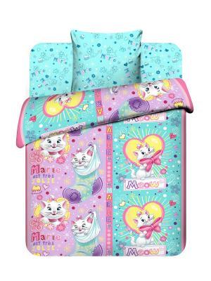 Комплект постельного белья Василек. Цвет: голубой, розовый