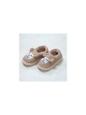 Тапочки Спящие овечки (бежевые)(40-41) Kawaii Factory. Цвет: бежевый