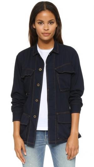 Куртка-френч Basic Terrain. Цвет: темный индиго