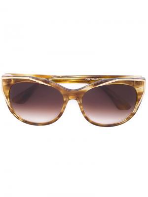 Солнцезащитные очки в круглой оправе Thierry Lasry. Цвет: жёлтый и оранжевый