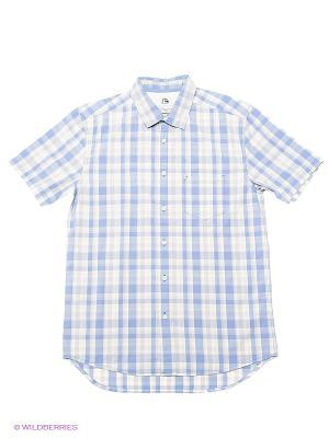 Рубашка Quiksilver. Цвет: голубой, молочный