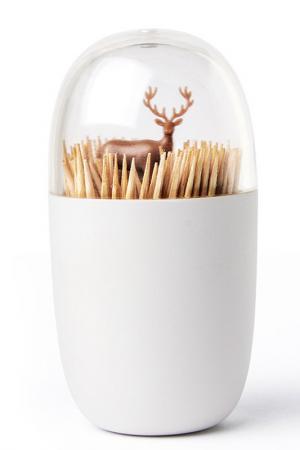 Держатель для зубочисток Deer Qualy. Цвет: белый