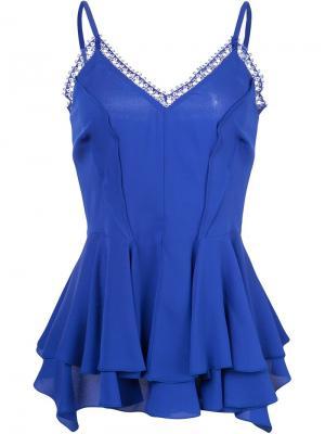 Блузка с оборками Derek Lam. Цвет: синий