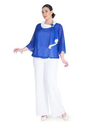 Блуза Darissa Fashion. Цвет: синий, белый