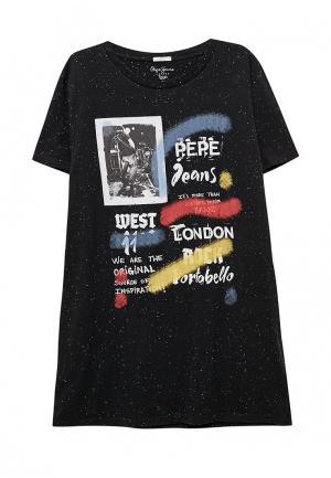 Футболка Pepe Jeans. Цвет: черный