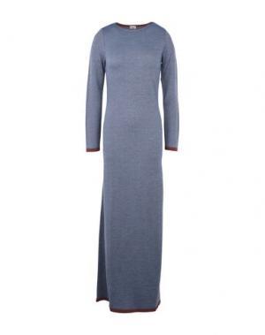 Длинное платье SIYU. Цвет: небесно-голубой