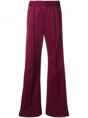 Спортивные брюки с полосками Marc Jacobs. Цвет: розовый и фиолетовый