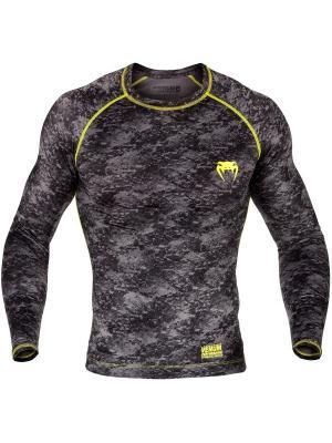 Рашгард Venum Tramo Black/Yellow L/S. Цвет: черный, желтый