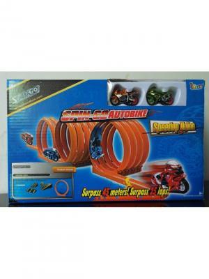 Крутой Байк Полигон 1 Мертвая петля+4 Рампы, 2 мотоцикла Склад Уникальных Товаров. Цвет: оранжевый