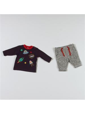 Комплект одежды BABALUNO. Цвет: темно-синий, серый